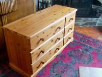 Quality solid pine 6 drawer chest