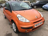 2003 Citroen C3 convertible, starts and drives very well, MOT until 27th April, clean inside and out
