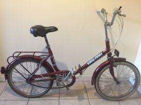 Vintage folding shopper bike