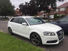 "2011 ""61"" AUDI A3 - S LINE - BLACK EDITION - 2.0 Tdi Manual 148k - IBIS WHITE - BOSE + LED PACK- GT"
