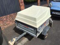 Erde 102 trailer with hardtop.
