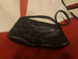 Black flower bag