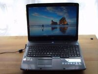 """ACER ASPIRE 7730 17"""" LAPTOP WIN10 2.0GHz INTEL 2CORE DUO 4GB RAM SPARES ONLY 07 999 965 138"""