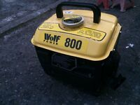Generator 2 Stroke, Wolf Power 800 model, Excellent Condition, £60 - contact 07763119188