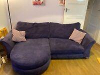 DFS purple 4 seater sofa