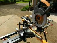 Evolution Rage 3 circular saw, double bevel mitre saw & stand