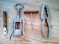 Vintage Kitchen Items - Corkscrew, Bottle Opener, Nutcracker etc. Collectible