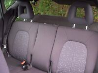 Set of rear removable seats for an A series Mercedes. Excellent condition.