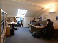 Desks available in relaxed friendly office off High Street, Edinburgh. £250 pcm. 07803176299