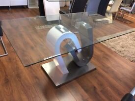 Tripoli White and Grey Dining Table