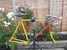 Vintage lightweight steel bike frame