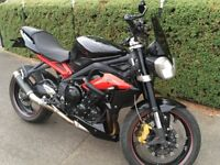 Triumph STREET TRIPLE 675 R ABS, Daytona Cams, DeCat, mapped 112 BHP, SC GP M2 Can, Black, 675R