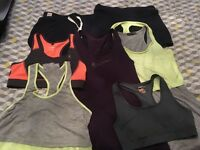 Size 8-10 ladies sports clothing x7 items hardly worn