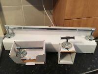 Bathroom Set B&Q *NEW* - High Quality Mosaic Bathroom Set - Towel Rail - Toilet Roll Holder - Bargin