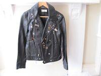 Yves Saint Laurent (badge) Leather Jacket