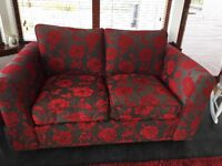Three and Two Setter Sofas. Red and Gray