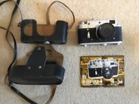 Zorki 4 Camera with original leather case, and booklet