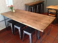 Industrial style 6 seater table