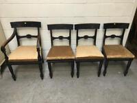Set of 4 antique chairs (one carver + three chairs)