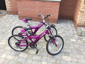 Girls giant taffy bikes