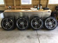 """Genuine BMW 310m 20"""" Alloy Wheels and Tyres with TPMS All Brand New Will Fit BMW X3 or X4"""