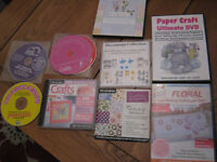 selection paper craft cds/dvds ,card making decoupage etc