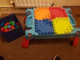 Mega blocks table with extra mega blocks