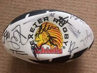 Signed Exeter Chiefs Supporters Rugby Ball