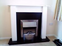 Dimplex electric fire and surround.
