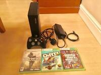 Xbox 360 slim - 250gb - controller + games