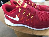 Nike Free 5.0 Red Size 7 - Professionally cleaned - Like New