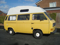 SOLD T25 1981 high top camper 2.0l a/cooled £2000 SOLD