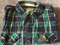 Superdry men's shirts short sleeves size large uesd very good condition £8