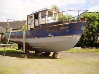 Boat Project /Houseboat 30' Steel Boat