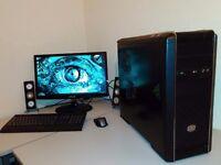 "CUSTOM GAMING BUNDLE - OCTA CORE - 22"" - 4GHZ X8 - AMD FX - RADEON 5GB - 12GB RAM - 600 W PSU"