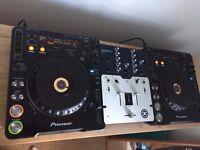 Pioneer CDJ1000 MK1 (PAIR) + Stanton Sa.3 Mixer