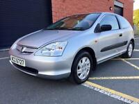 MAY 2002 HONDA CIVIC S 1.4 PETROL ONE OWNER FROM NEW JUST PASSED THE MOT