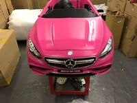 New Pink Mercedes S63 AMG 12V Electric Kid on Ride Car with Parental Control CC31