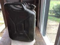 TWO METAL JERRY CANS