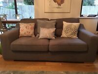 DFS GREY 2 SEATER SOFA - 2 YEARS OLD - COST £349 - FREE - MUST COLLECT BY WEEKEND