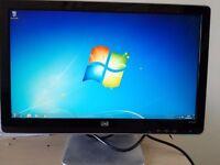 "HP Pavilion2010i Monitor 20""wide-screen monitor LCD TFT VGA and DVI-D Connector"