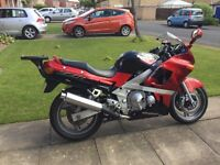 Low Milage Kawasaki ZX600 Motor Cycle. 2001 Reg. One owner from new.