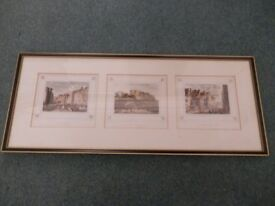 3 Edinburgh antique prints