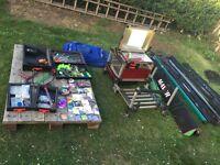 Milo fishing box rods job lot