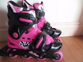 Girls Pink Roller Skates and Protective Gear Fort William