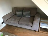 2 x 2 seater suede sofas from Sofology in immaculate condition