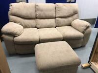 Sofa armchair and Footstool with FREE DELIVERY