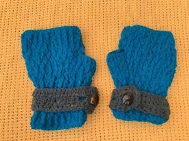 Hand made hand crochet women's hand warmers/gloves