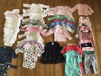 Huge baby girl clothes 3-6 months over 40items gap H&M m&s next