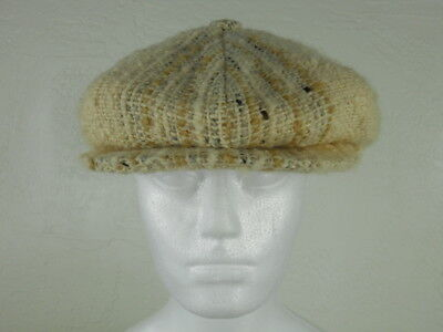 STUDIO DONEGAL Medium Newsboy Handwoven Cap Hat Gatsby From Ireland Fishing -